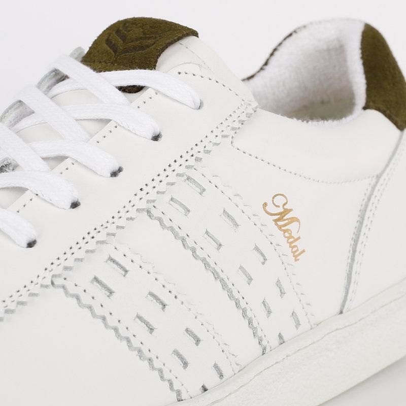Q1905 Men's Sneaker Medal - White/Army Green