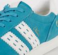 Q1905 Men's Sneaker Medal - Aqua Blue/White