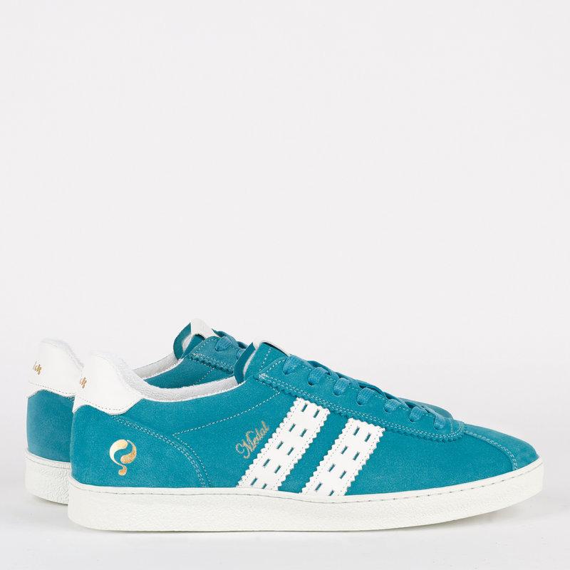 Q1905 Heren Sneaker Medal - Aqua Blauw/Wit