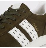 Q1905 Heren Sneaker Medal - Legergroen/Wit