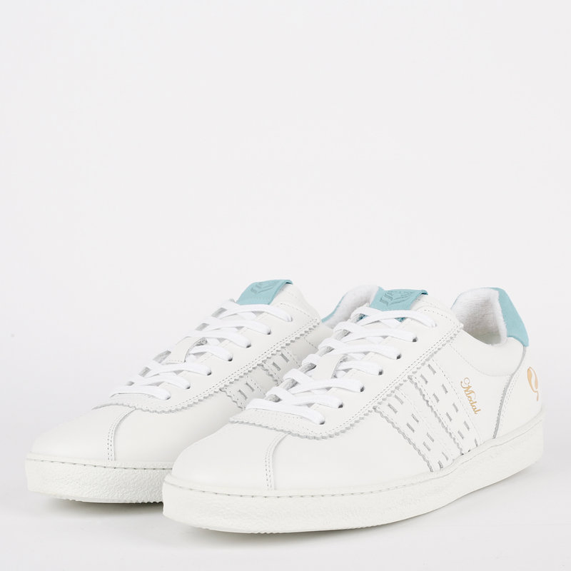 Q1905 Dames Sneaker Medal - Wit/Lichtblauw