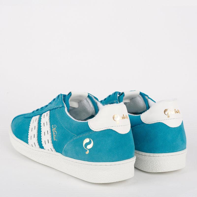 Q1905 Women's Sneaker Medal - Aqua Blue/White