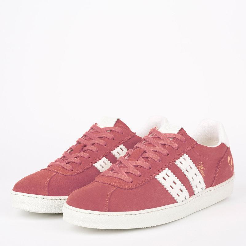 Q1905 Dames Sneaker Medal - Oud Roze/Wit