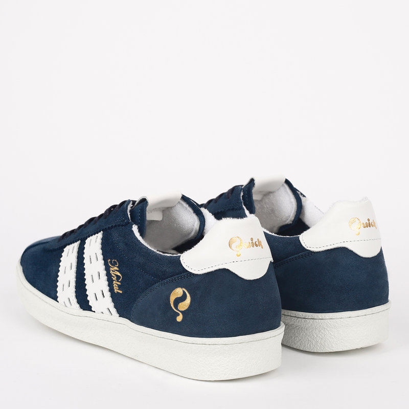 Q1905 Dames Sneaker Medal - Denim Blauw/Wit