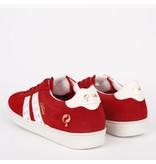 Q1905 Heren Sneaker Medal - Rood/Wit
