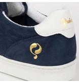 Q1905 Heren Sneaker Medal - Denim Blauw/Wit