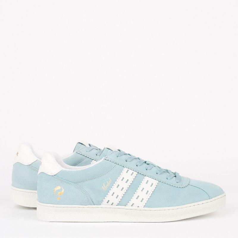 Q1905 Heren Sneaker Medal - Lichtblauw/Wit