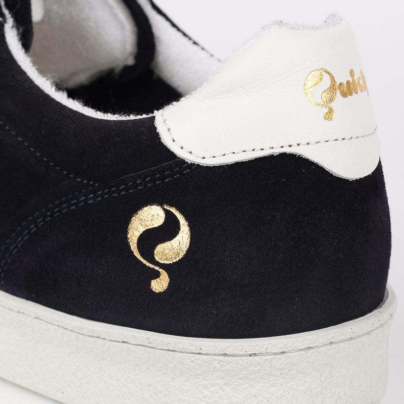 Q1905 Heren Sneaker Medal - Donkerblauw/Wit