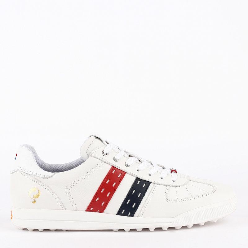 Q1905 Men's Golf Shoe Fairway - White/Red-Blue