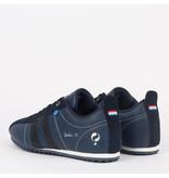 Q1905 Heren Sneaker Typhoon SP - Marine Blauw/Donkerblauw