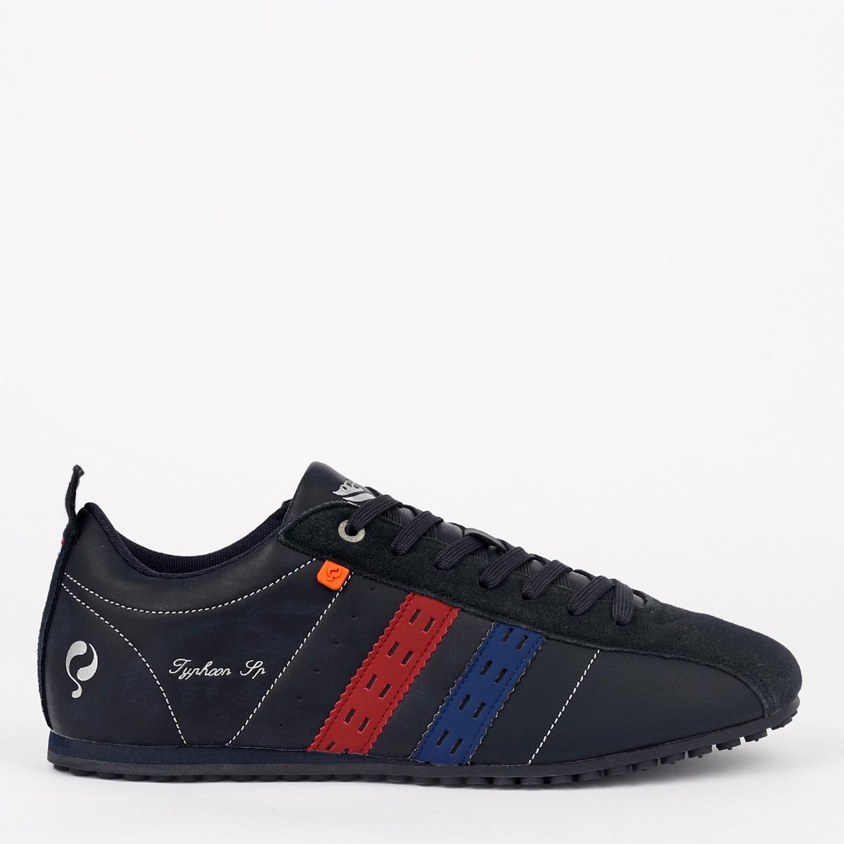 2 voor €129 - Heren Sneaker Typhoon SP - Donkerblauw/Rood-Kobalt