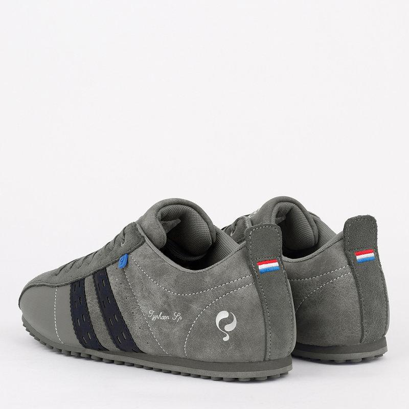 Q1905 Heren Sneaker Typhoon SP - Grijs/Donkerblauw