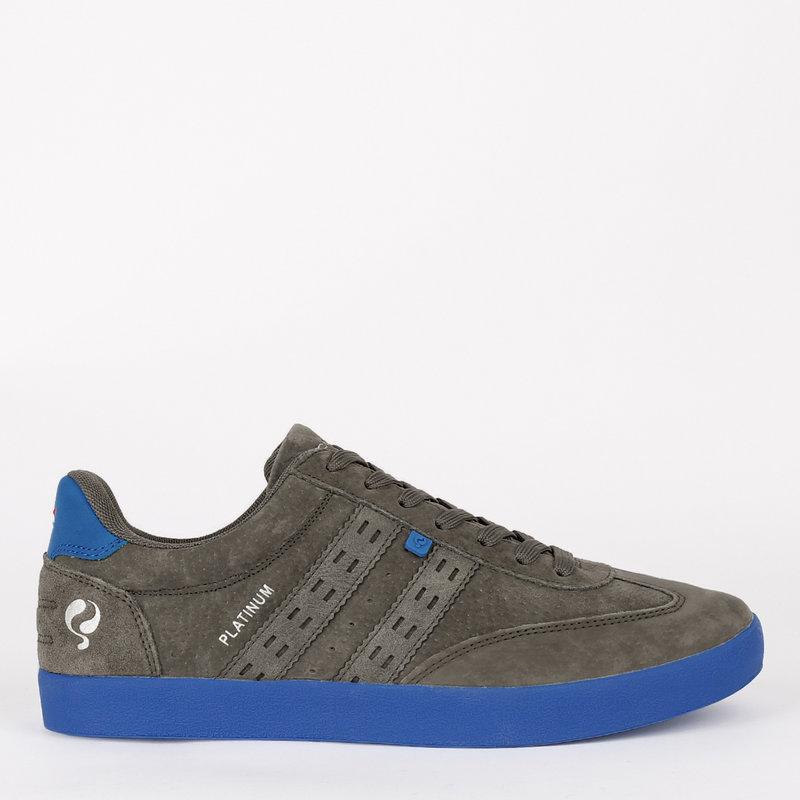 Q1905 Heren Sneaker Platinum - Grijs/Koningsblauw