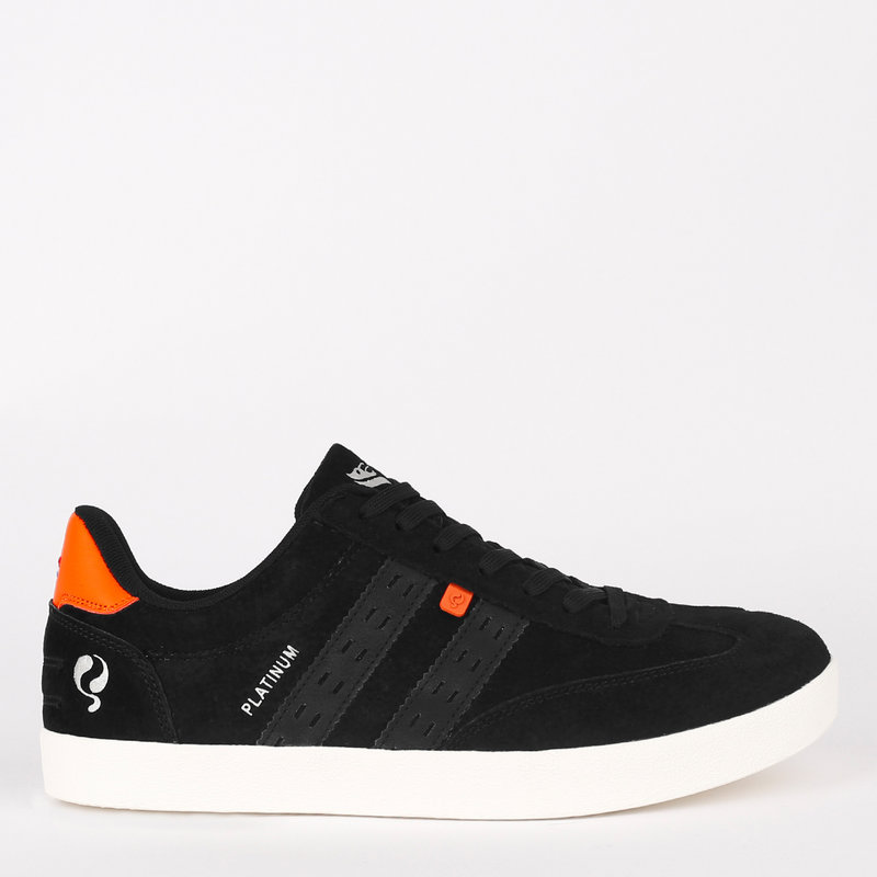 Q1905 Heren Sneaker Platinum - Zwart/Oranje