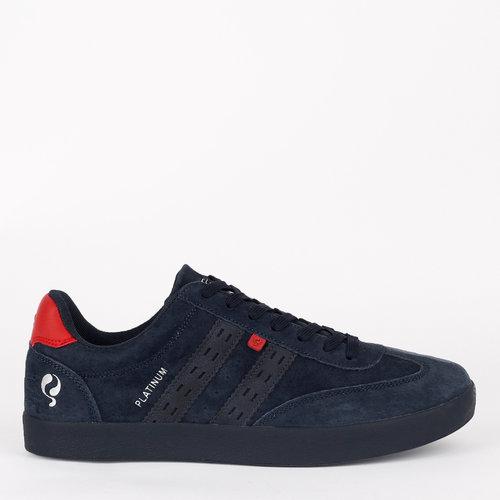Heren Sneaker Platinum - Donkerblauw/Rood