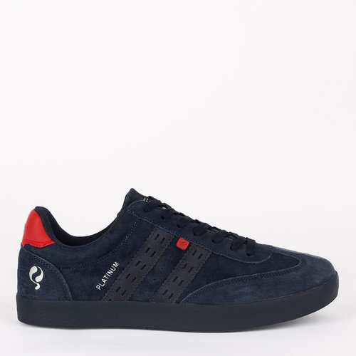 Men's Sneaker Platinum - Dark Blue/Red