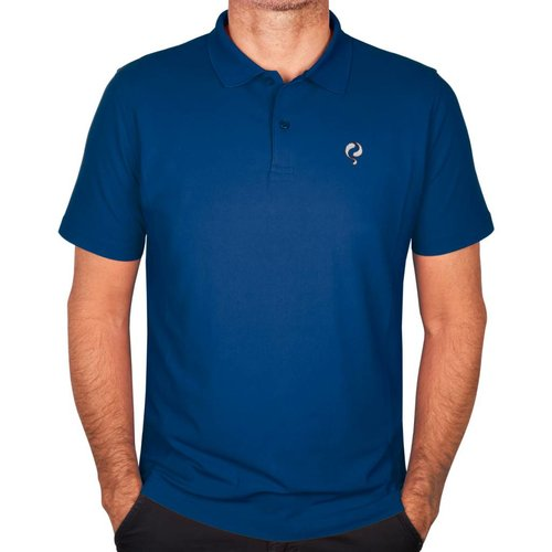 Heren Polo JL Flag Electric Blue