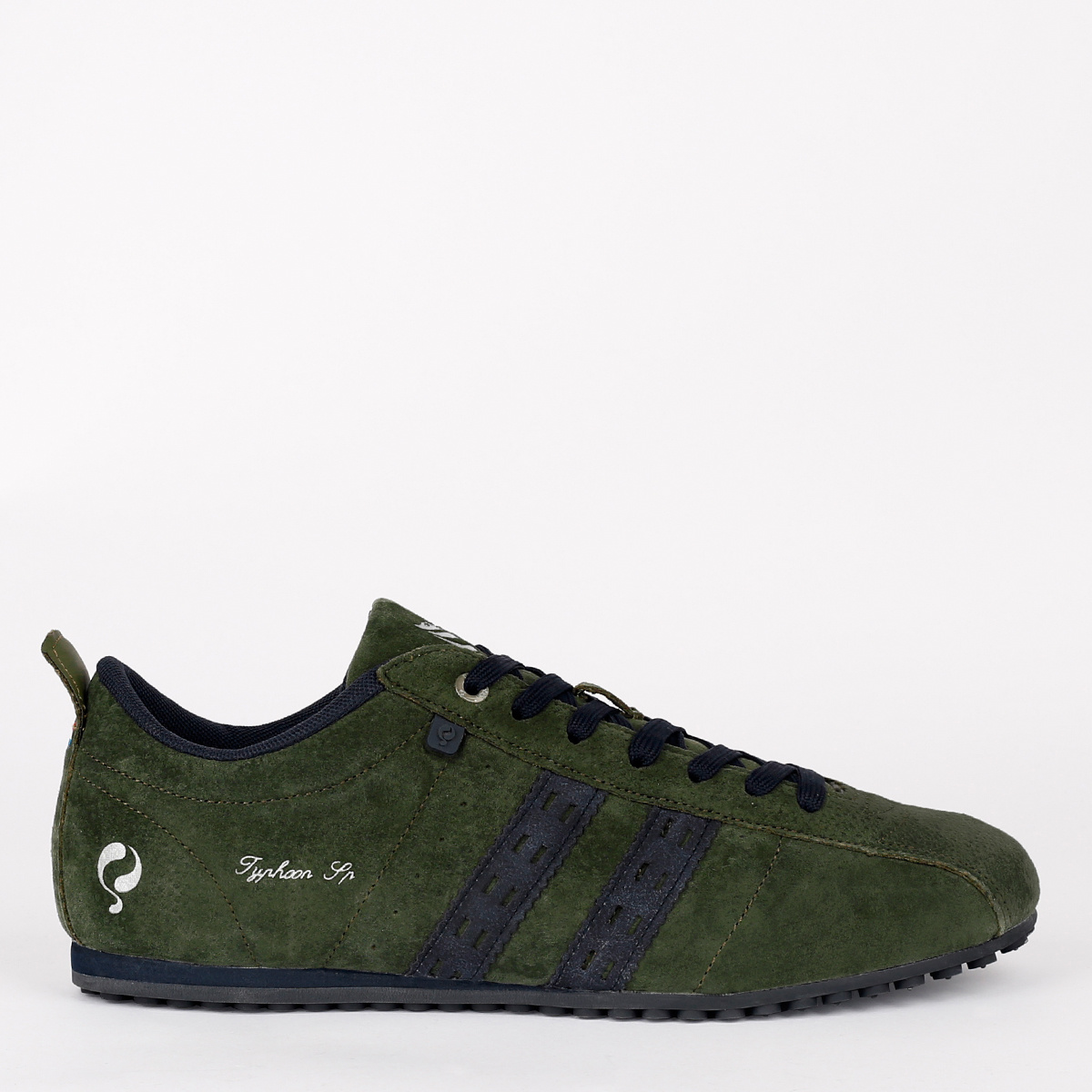 2 voor €129 - Heren Sneaker Typhoon SP - Donkergroen/Donkerblauw