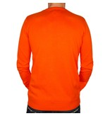 Q1905 Heren Pullover V-neck Marden Orange
