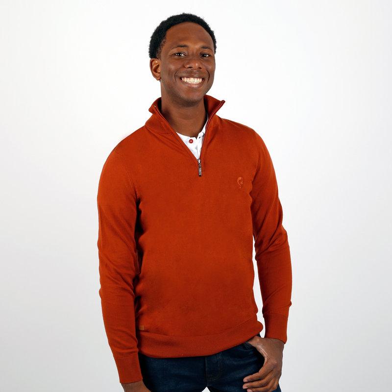 Q1905 Men's Pullover Kralingen - Rust Orange