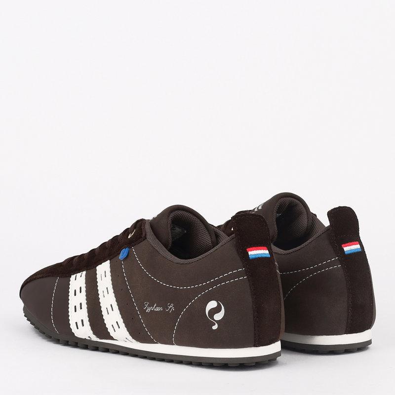 Q1905 Heren Sneaker Typhoon SP - Donkerbruin/Wit