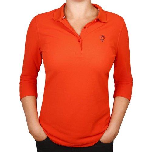 Dames Driekwart Polo Distance Orange