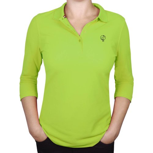 Dames Driekwart Polo Distance Light Green