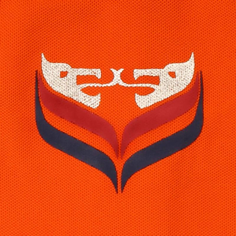 Q1905 Dames Driekwart Polo Distance Orange