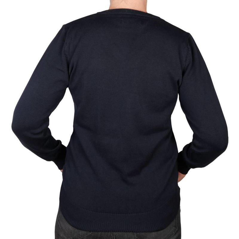Q1905 Dames Pullover V-neck Maywood Deep Navy