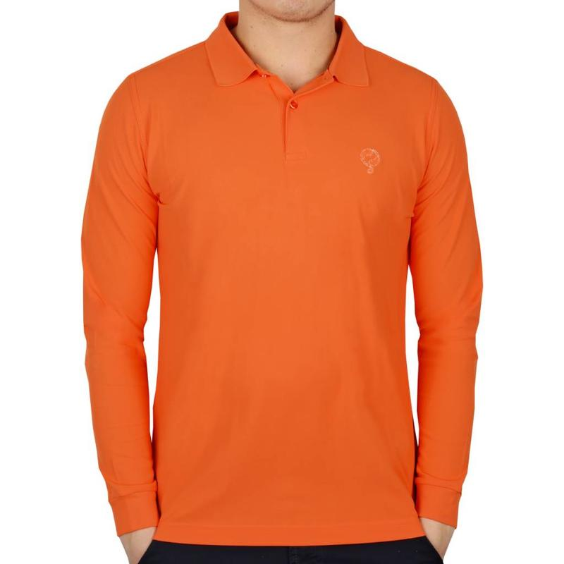 Q1905 Heren Longsleeve Polo JL High Orange
