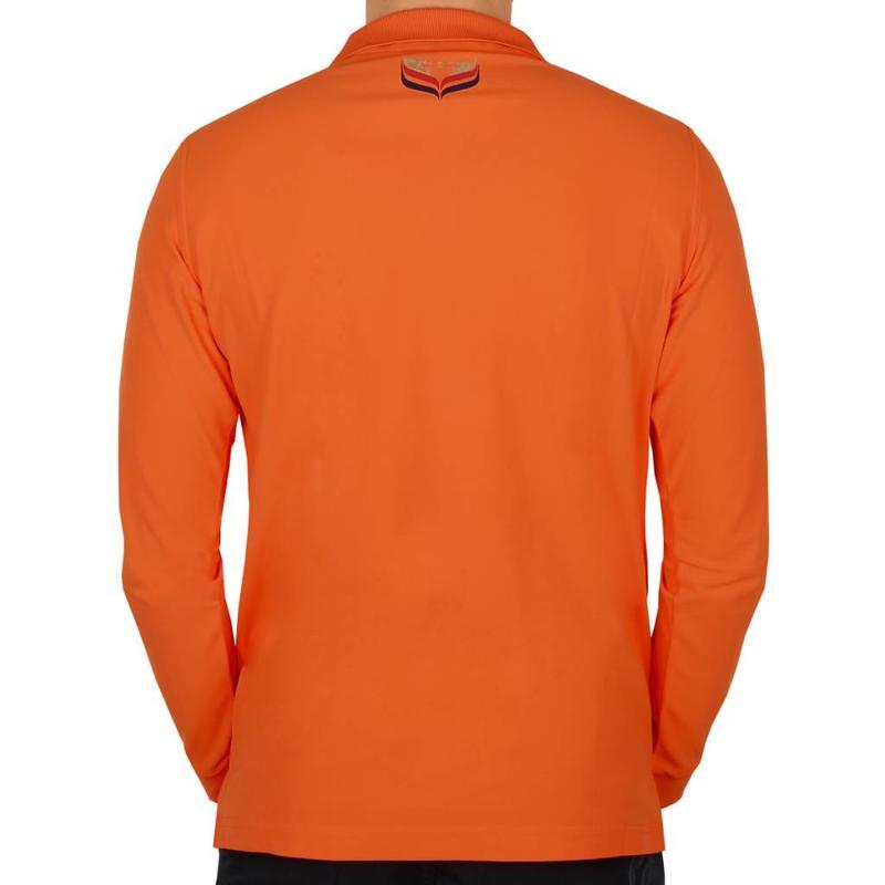 Q1905 Men's Longsleeve Golf Polo JL High Orange
