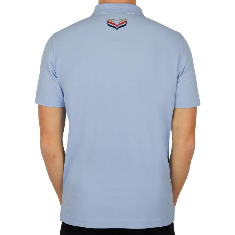 Q1905 Men's Golf Polo JL Flag Lt Azul