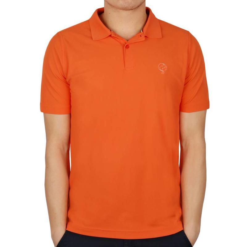 Q1905 Men's Golf Polo JL Flag Orange