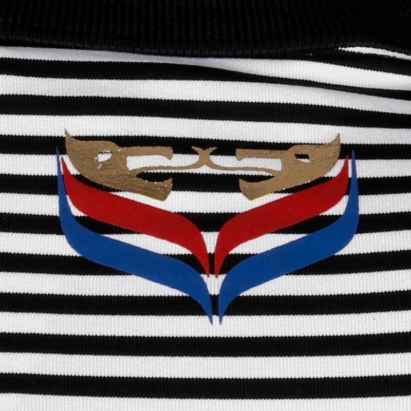Q1905 Heren Polo Stripe JL Punch Black / White