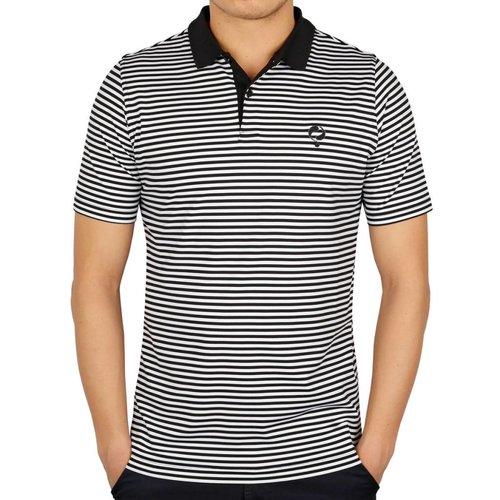 Heren Polo Stripe JL Punch Black / White