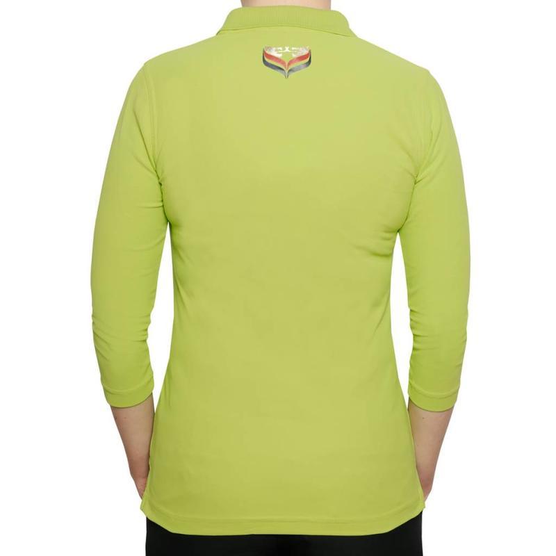 Q1905 Women's 3/4 Golf Polo Distance Lime Green