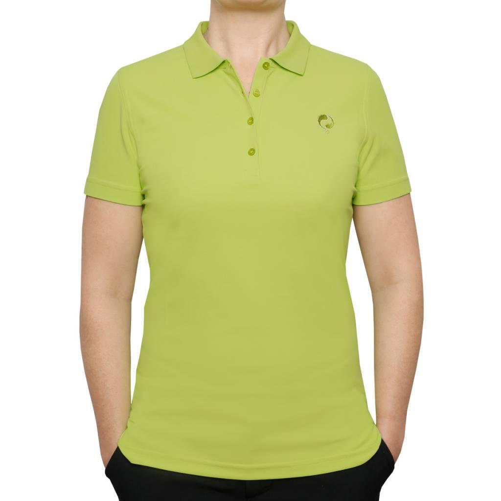 Q1905 Dames Polo Square Lime Green