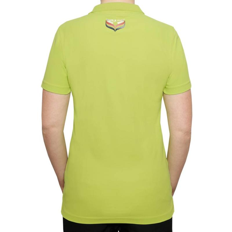 Q1905 Dames Polo Square Lime Green