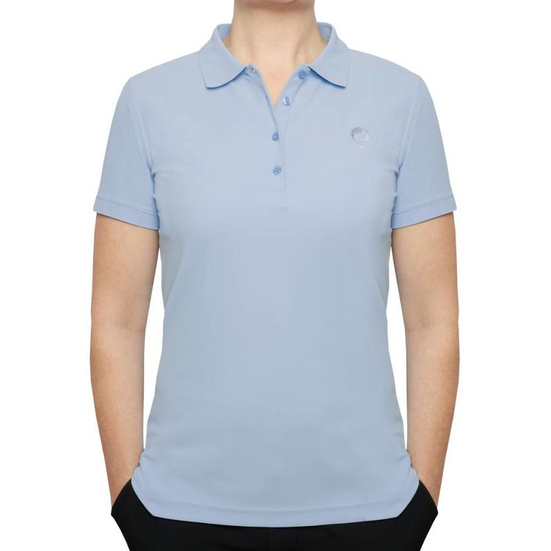 Q1905 Dames Polo Square Lt Azul