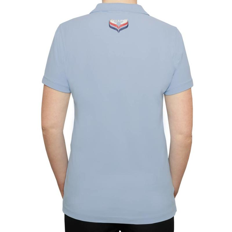 Q1905 Women's Golf Polo Square Lt Azul
