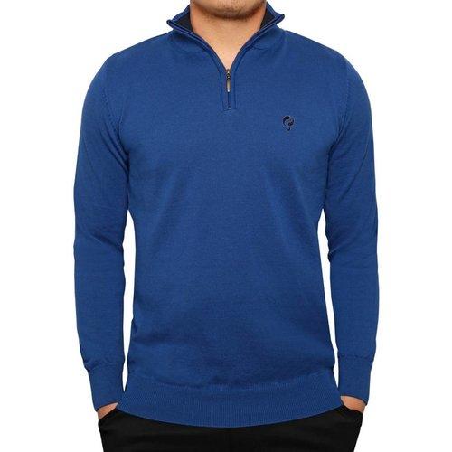 Men's Pullover Half Zip Stoke Skydiver / Deep Navy