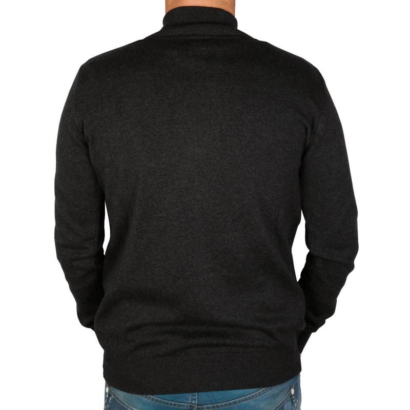 Q1905 Heren Trui Full Zip Midford Anthracite