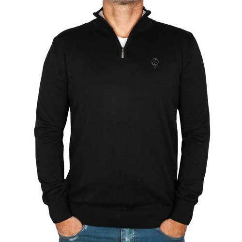 Men's Pullover Half Zip Stoke Black