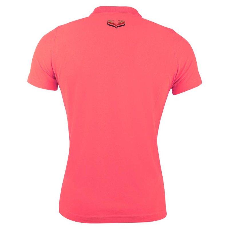 Q1905 Dames Polo Square Scarlet Pink
