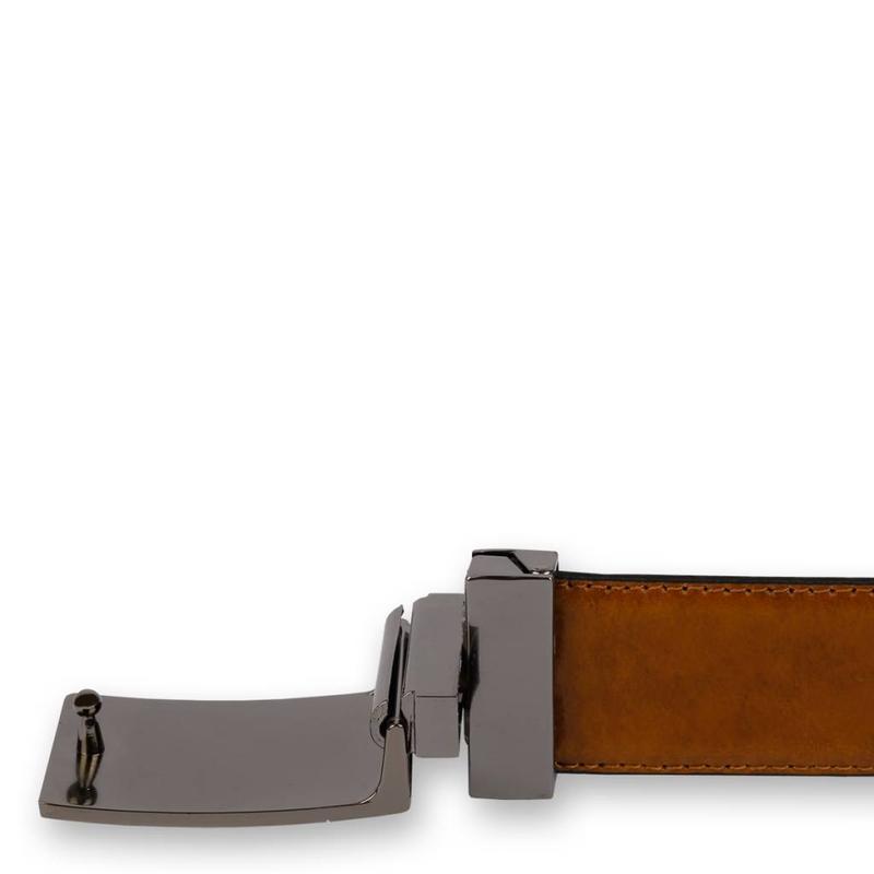 Q1905 Leather Belt Chip Black / Cognac