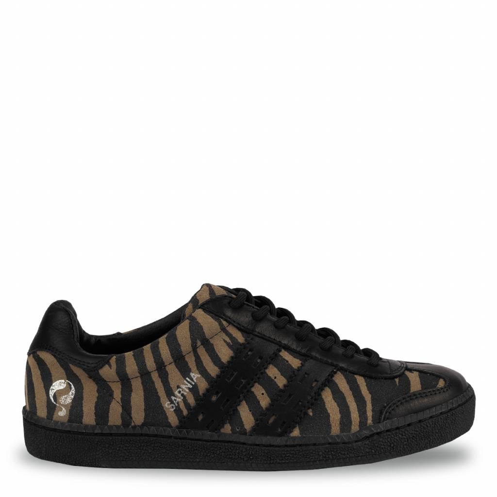 Q1905 Dames Sneaker Sarnia Taupe - Black