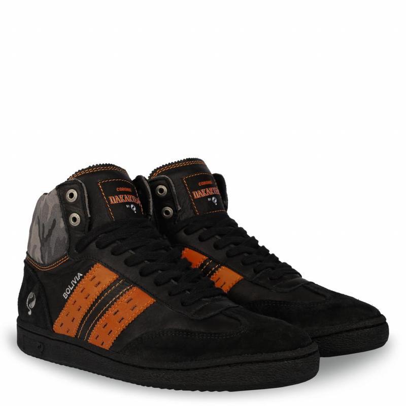Q1905 Heren Dakar Sneaker Bolivia Black / Orange