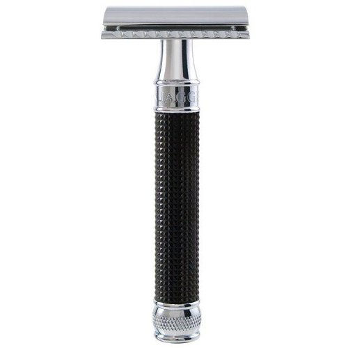 Edwin Jagger 3D Diamond Double Edge Safety Razor Zwart
