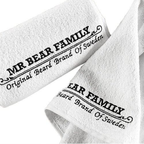 Mr Bear Family Barber Towel - Wit