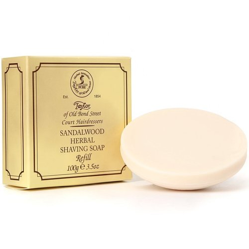 Taylor of Old Bond Street Scheerzeep Sandalwood - Navulverpakking 100g